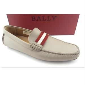 Unworn BALLY Grey Driving Moccasin Loafers 10